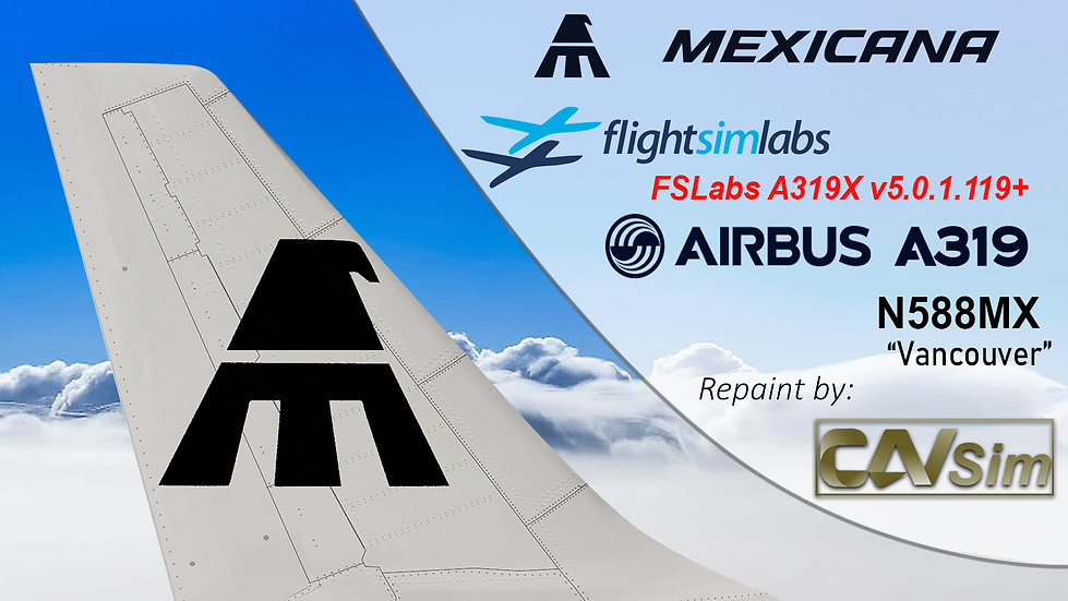 A319-112 (WT) Mexicana 'Vancouver' 'N588MX'