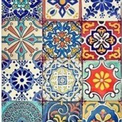 Colorful Tiles Ornate Rice Decoupage