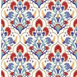 Whimsical Mediterranean Ornate Rice Decoupage
