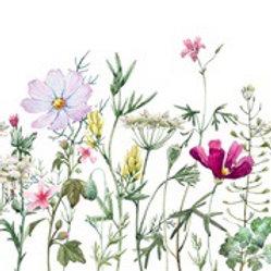 Spring Flowers w/ Stems Ornate Rice Decoupage