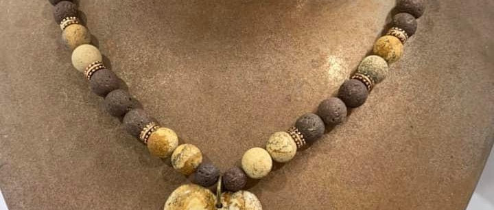 Stone and Glass Necklaces