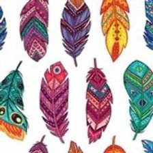 Feathers Ornate Rice Decoupage