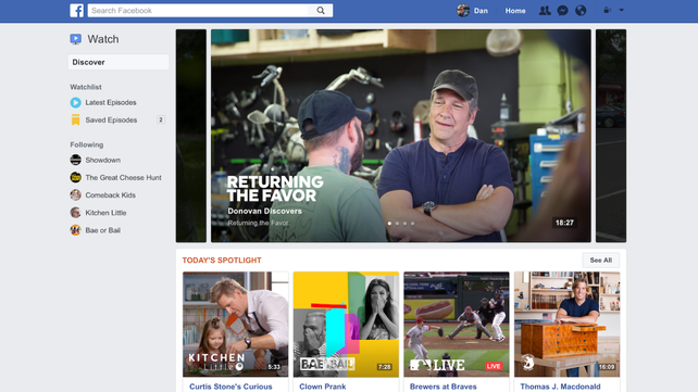Facebook takes on TV and YouTube
