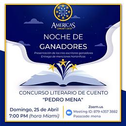 Concurso Pedro Mena Flyer