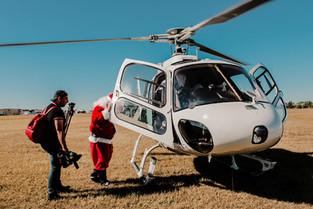 Santa in Helicopter