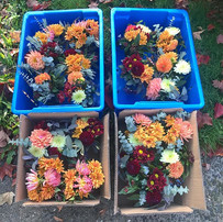 I got to make a few bouquets today for t