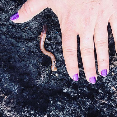 Happy earth day! I found a huge worm in