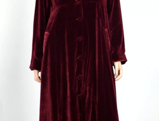 Velvet Coat Dress