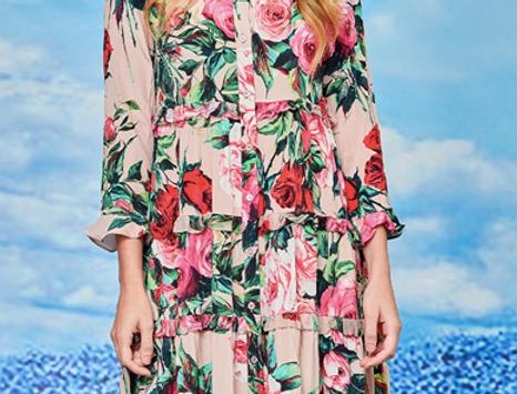Long Roses Dress