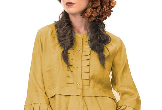 Linen Frill Jacket