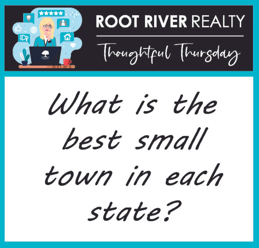 Thoughtful Thursday:  What is the best small town in each state?