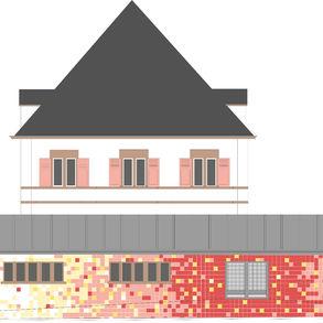 Projet de façade pour l'école de Munster (67)