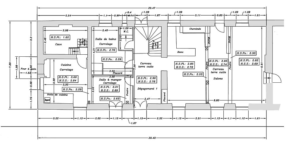 création d'espace plan réhabilitation manoir