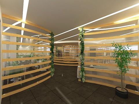 création d'espace entrée aménagement hôtel