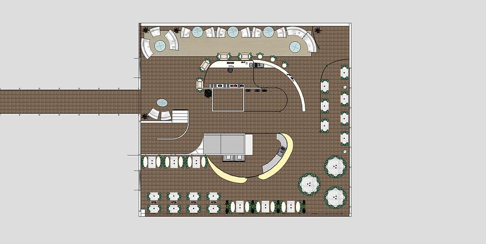 création d'espace plan aménagement hôtel