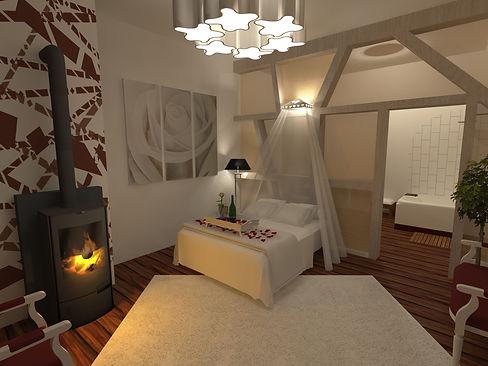 création d'espace réhabilitation chambre d'hôte manoir