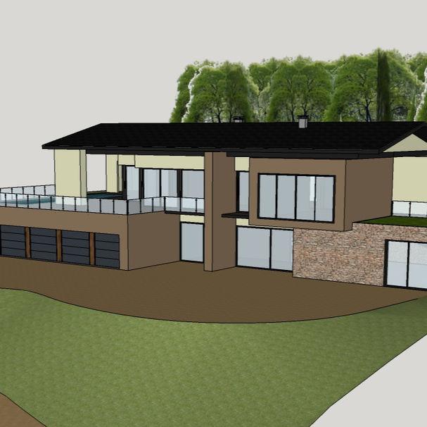 Modélisation 3D de l'extérieur d'une maison