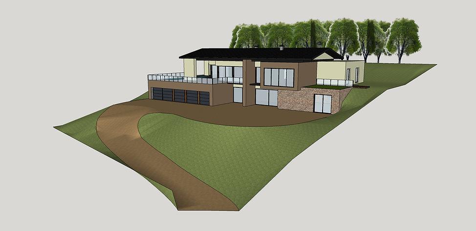 modélisation 3D extérieur maison architecte