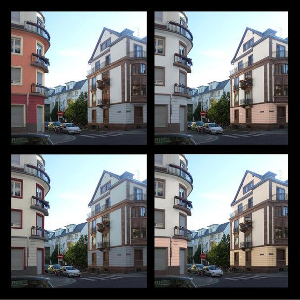 Coloration de façade au Neudorf, Strasbourg
