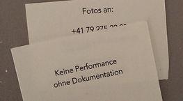 Keine Performance ohne Dokumentation Fioa Könz