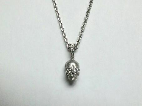 K18WGダイヤモンド Small Skull