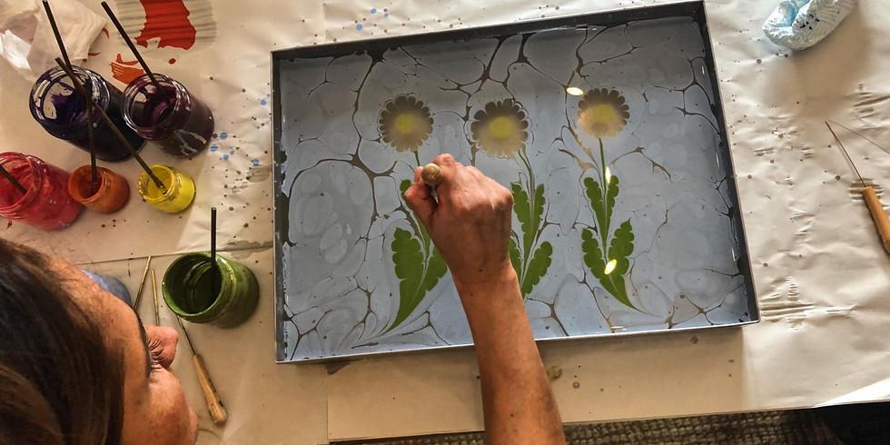 Flowers on Water Marbling Workshop