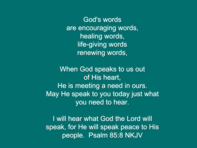 God's words,.... all we need