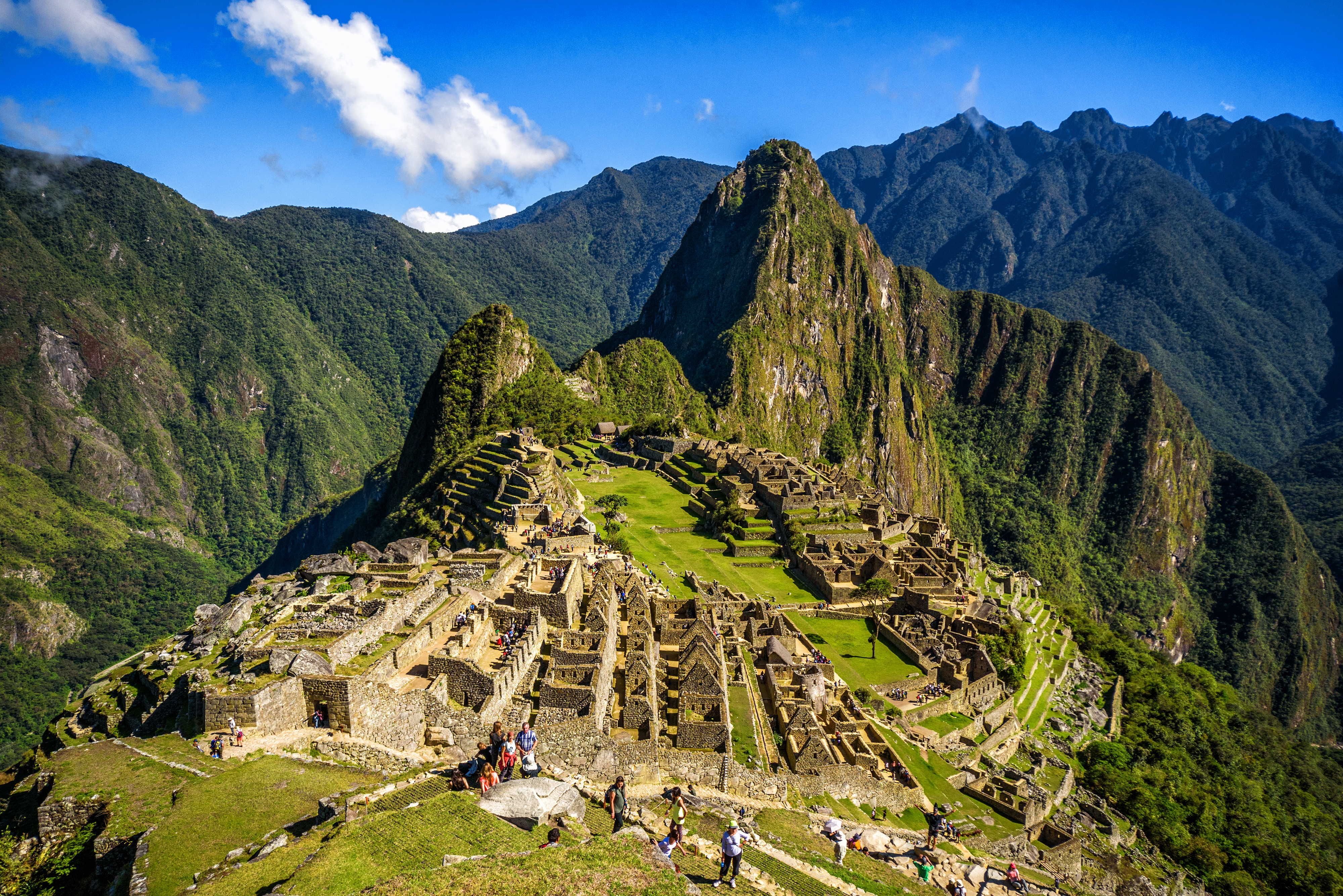 View of the Lost Incan City of Machu Pic