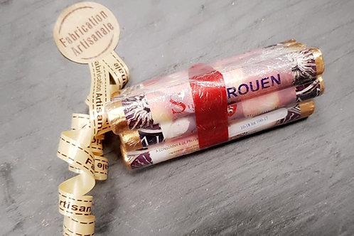 Paquet de 6 sucres de Rouen saveur pomme N°30