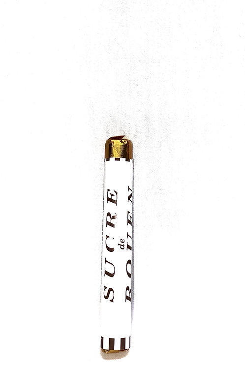 Sucre de Rouen saveur pomme emballage blanc et or N°20