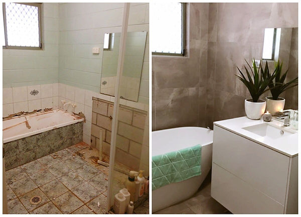 Before and after darwin bathroom renovat