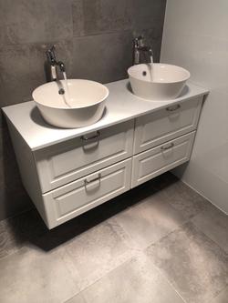 Bathroom renovation in Adelaide, vanity installation
