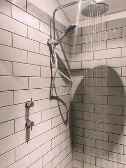Gregory Project - Bathroom renovation in Adelaide subway tile installation and chrome finishes by Ba