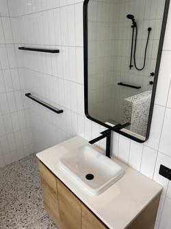 Waterfall Gully bathroom renovation dual towel rack