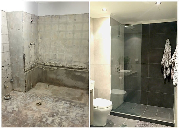 before and after bathroom renovation lar