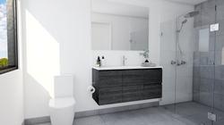 Sleek and simple 3D bathroom renovation in Adelaide