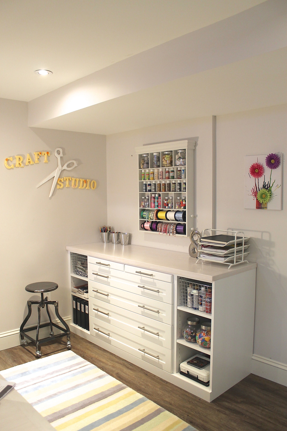 Home office craft area by Georgia's Design