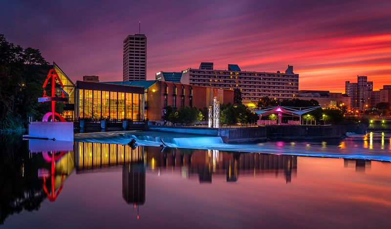 DOWNTOWN SOUTHBEND SUNSET-L