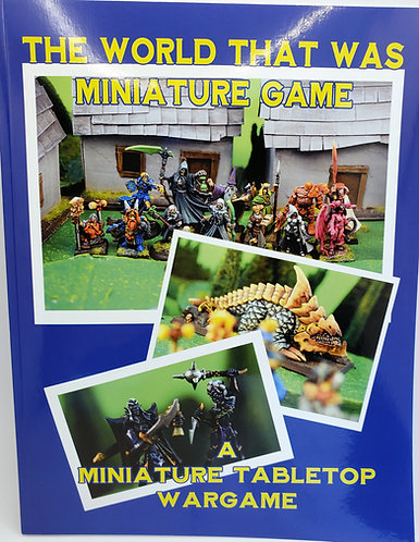"""Tabletop Tabletop Miniature Game - """"The World That Was""""Role Playing Game"""