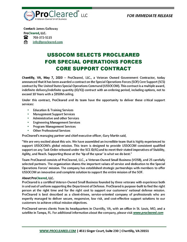 SOCOM SCS Press Release 07MAY20_approved