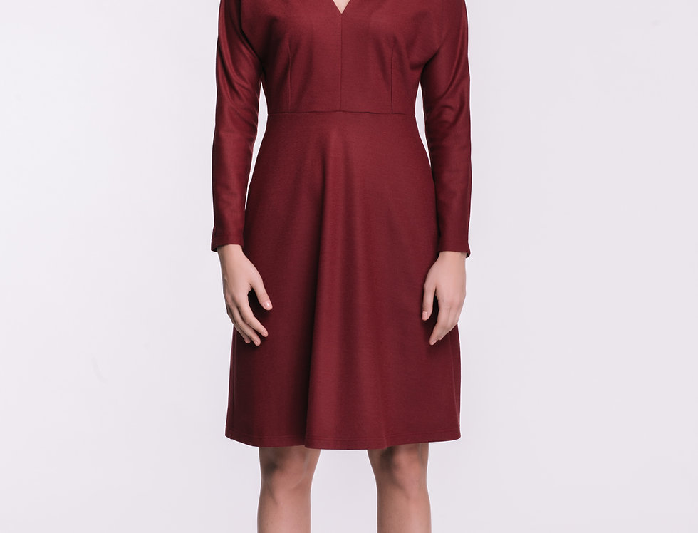 Red Wool Jersey Dress