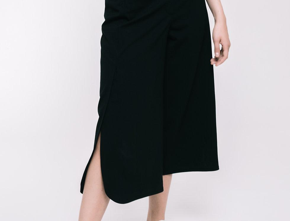 Black Wool Culottes