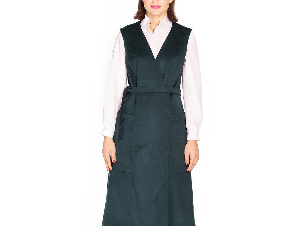 Dark Green Wool Vest Dress