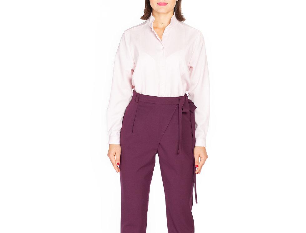 Dark Purple Wool Trousers