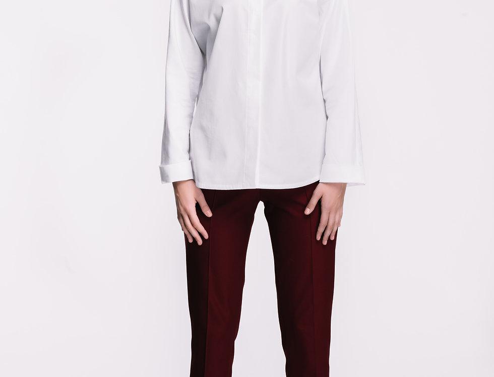 White Cotton Kimono Shirt