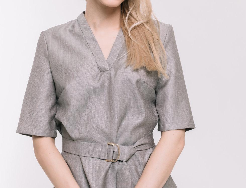 Silver Wool Top