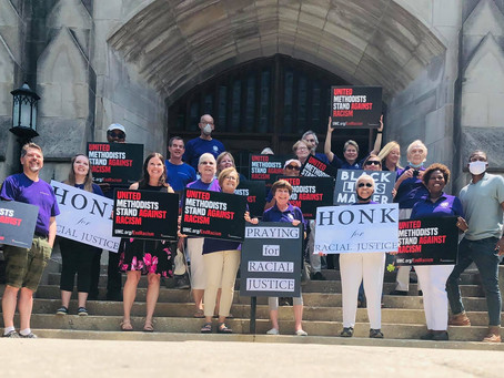 First United Methodist of Oak Park Rally Against Racism
