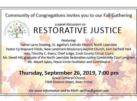 Community of Congregations Restorative Justice