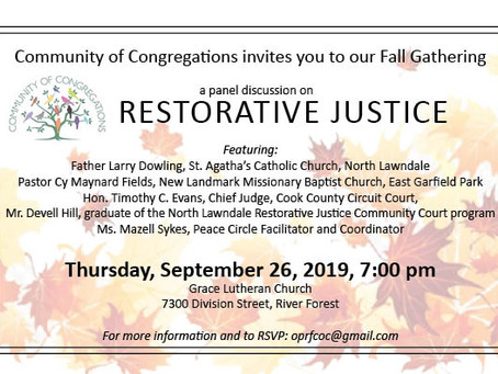 Community of Congregations Restorative Justice