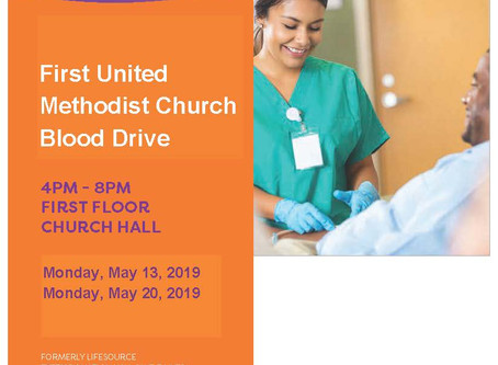 May Vitalant Blood Drives at FUMC Oak Park!